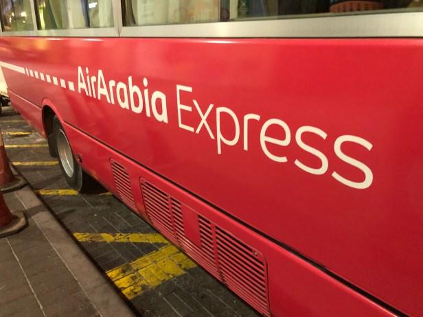 air arabia express shuttle bus coach service al ghurair centre dubai sharjah airport shj review united arab emirates uae