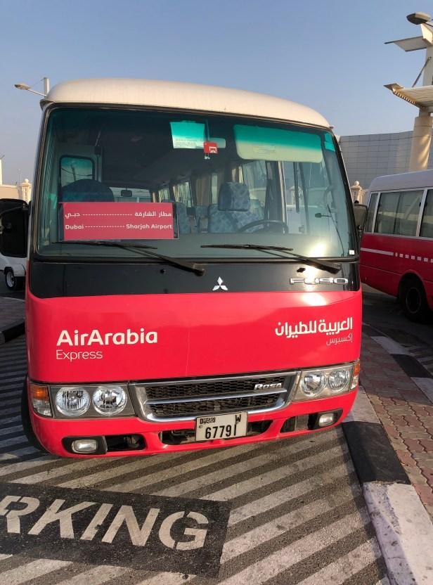 air arabia express bus coach shj united arab emirates review uae thepointshabibi