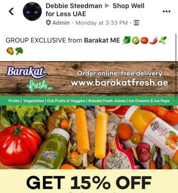 barakat discount shop well for less uae facebook group dubai abu dhabi offer promo code coupon thepointshabibi