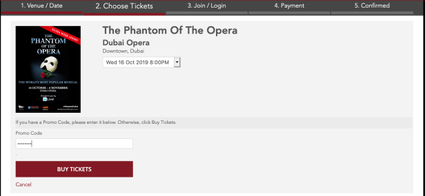 the phantom of the opera dubai opera promo code emiratesnbd dubai uae october november 2019 gold vip platinum tickets discount coupon offer thepointshabibi