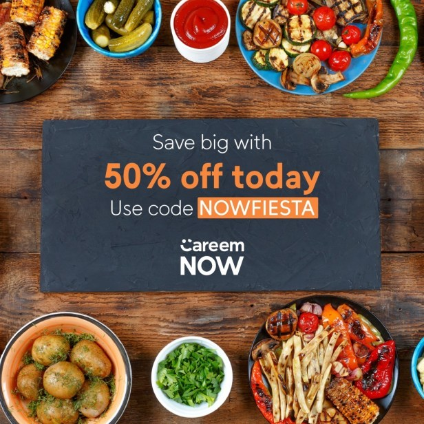 careem now careemnow promocode promo codes nowfiesta 50% off discount voucher coupon offer dubai uae