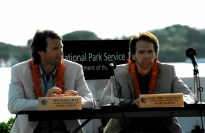 Michael Bay and Jerry Bruckheimer at the Arizona Memorial Press conference
