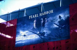 Movie Banner from the USS Stennis for the Premier