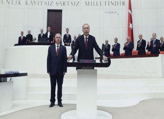 Erdogan takes oath as president with more executive powers