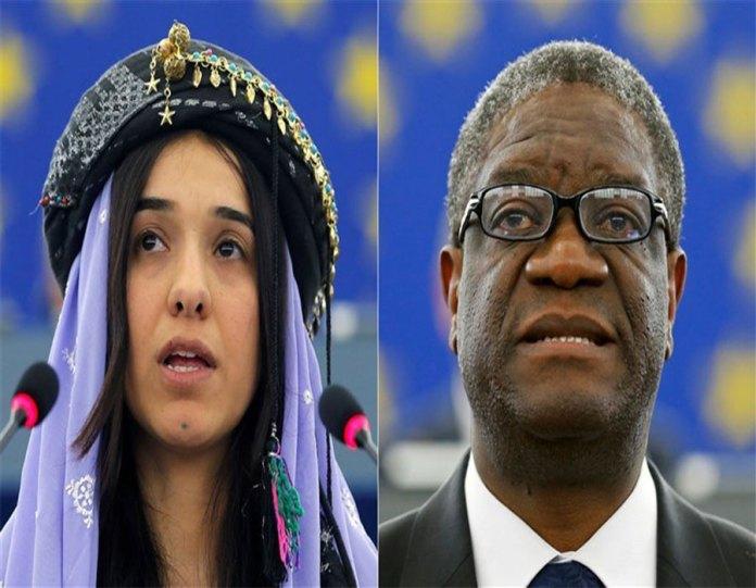 Denis Mukwege and Nadia Murad awarded for Nobel peace prize 2018