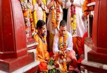 Rahul begins MP poll campaigns, prays at Maa Peetambara Peeth