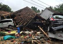 Indonesia tsunami: at least 222 killed, hundreds injured in Java and Sumatra Islands