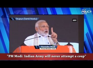 PM Modi addressed Tirupur audience | Army will never attempt a coup