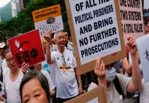 Nearly 2,000 Hong Kong seniors march in support of young protesters