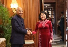 Vice President Dang Thi Ngoc Thinh meets President & Vice-President of India