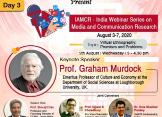 Third Day of IAMCR India Webinar Series 2020| Exclusive Interaction on Digital Ethnography with Prof. Graham Murdock. The policy times