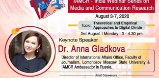 Russian Scholar Sheds Light on Global Digital Divide on the Opening Day of IAMCR Series of Media Webinars. The policy times
