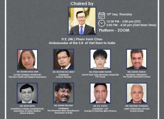 WEBINAR| Vietnam Embassy Organizes Indo-Vietnam Business Forum in Textile and Healthcare. the policy times