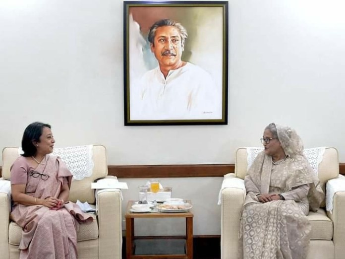 Bangladesh PM Sheikh Hasina stresses better cooperation with neighbours. the policy times