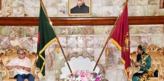 Maldives Outgoing H C to Bangladesh paid farewell call on Bangladesh President .the policy times