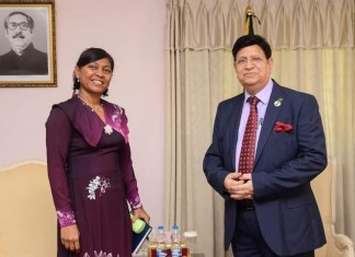 Departing H C of Maldives in Bangladesh made a farewell call on Bangladesh Foreign Minister .THE POLICY TIMES