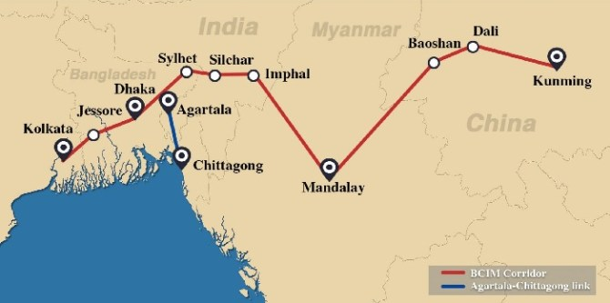 Bangladesh looks forward to establishing direct road & rail links with China Via Myanmar - State Minister for  Foreign Affairs Md. Shahriar Alam .the policy times
