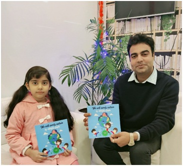 World's Youngest Writer Abhijita Gupta Signs Four Books Contract with Invincible Publishers, Receives an Advance Royalty Cheque of 10000 Books.the policy times