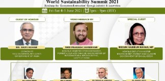 """WORLD SUSTAINABILITY SUMMIT 2021"" to define the roadmap for 'Ecosystem Restoration'"