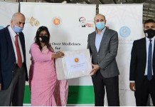 Bangladeshi medicine sent for Palestanian handed over