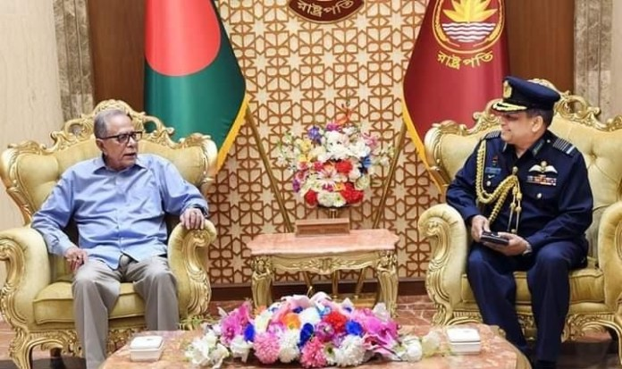 Farewell meeting of the Chief of Air Staff with the President of Bangladesh