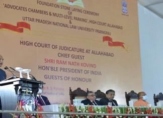 President Kovind lays foundation stone for High Court complex, Law varsity in Prayagraj