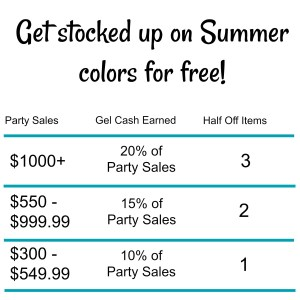 Gelmoment hostess rewards. Get stocked up on summer colors for free!