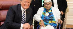 trump meets oldest living pearl harbor veteran