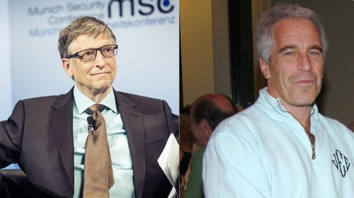 Bill Gates is surprised by reporter with questions about his affiliation with Jeffery Epstein
