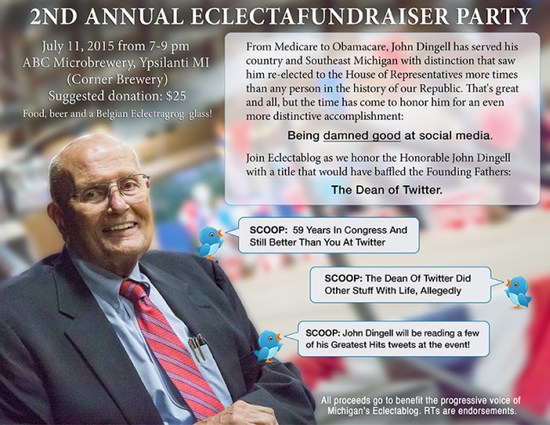 """, Former Dean of the House John Dingell to be named """"The Dean of Twitter"""", The Politicus"""