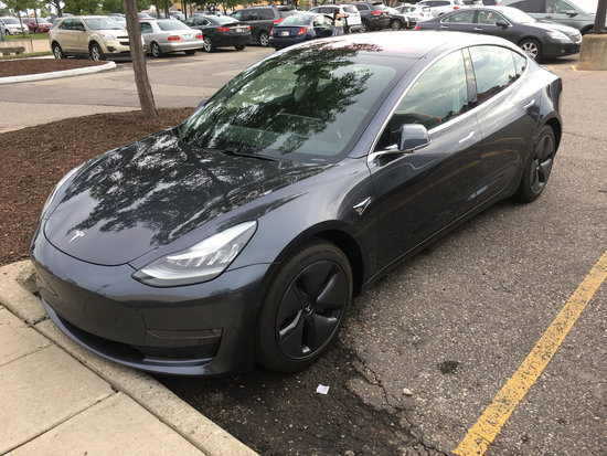 Tesla Model 3 in southeast Michigan June 19, 2018