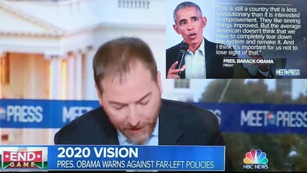 Chuck Todd implies Obama statement means Democrats want more small 'C' conservative YT