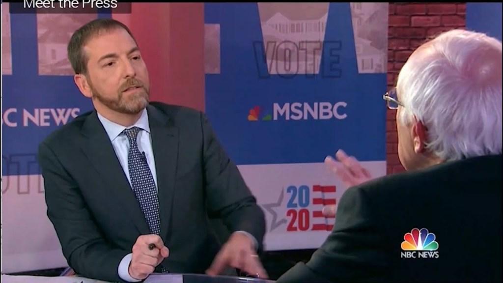 Bernie schools Chuck Todd on Trump socialist attacks
