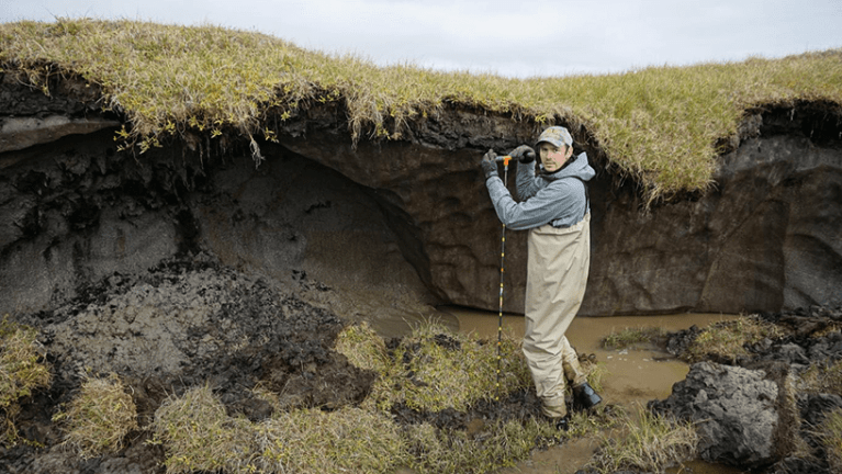 Previously unknown source of carbon found in groundwater melt flow in Alaskan permafrost.