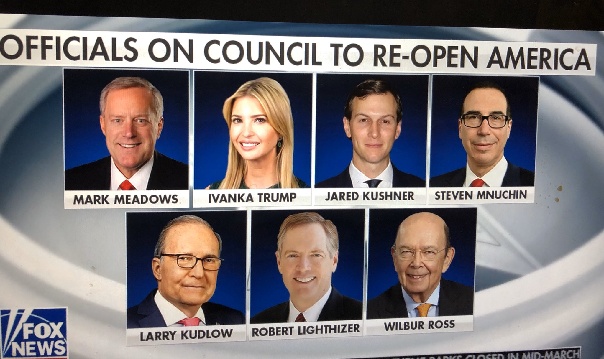 , The Council to Reopen America: 6 rich white men and the president's daughter, The Politicus