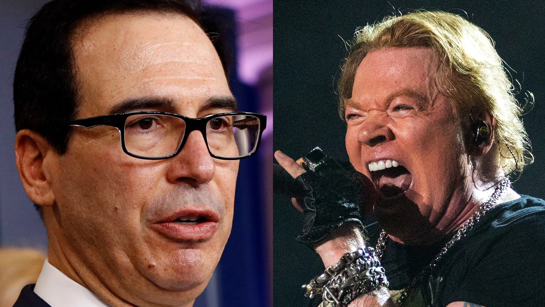 , Steve Mnuchin gets in Twitter feud with Axl Rose, posts Liberian flag instead of Old Glory, The Politicus