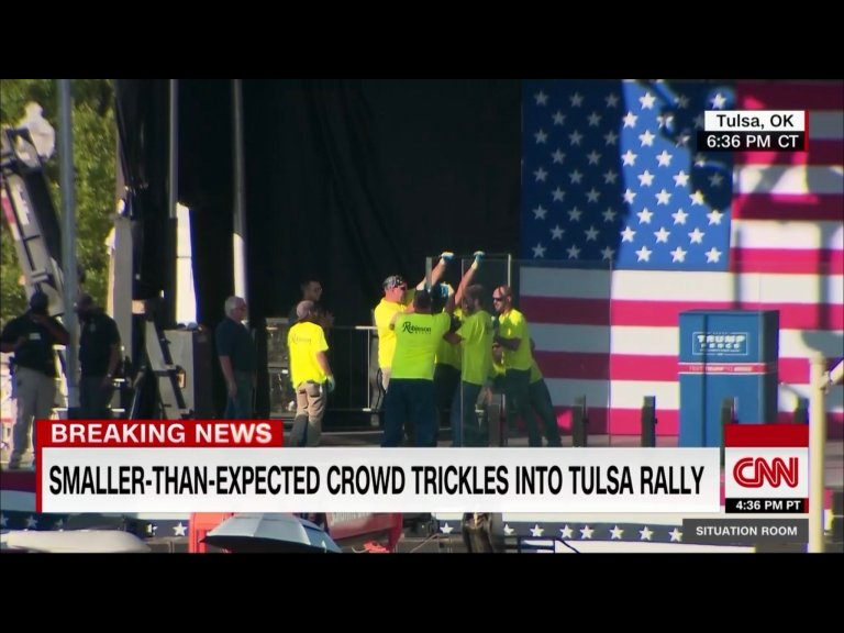 It's looking like a Tulsa bust with small indoor crowd, outdoor Trump event canceled