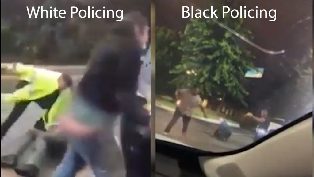 The difference between Black & White policing on video