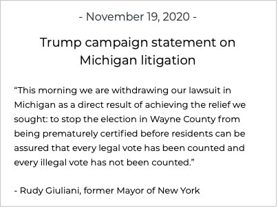 """, melting Rudy Giuliani explicitly says that Trump's goal is to """"overturn the election"""", The Politicus"""