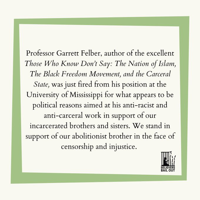 , Revising the invention of tradition(s): more on the Garrett Felber affair at U. of Mississippi., The Politicus