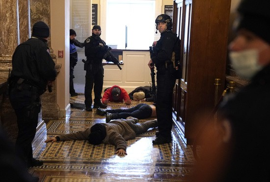 , Armed standoff at House Chamber because Trumpists think storming the Capitol will overturn election, The Politicus