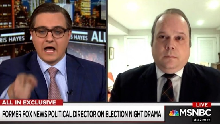 Chris Hayes grills former Fox News Political Director: Your network fed substantive lies.