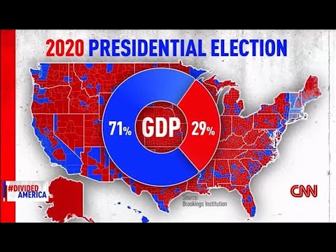 Blue America accounts for 71% of the GDP, a failure of Red State politicians' policies.