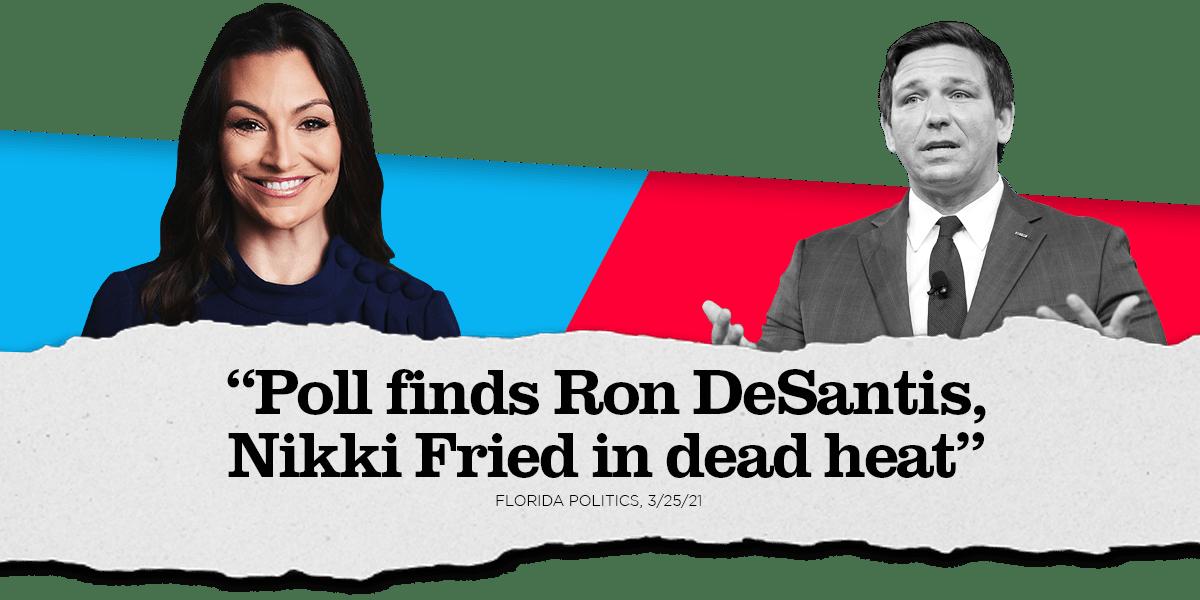 , FL-Gov: St. Pete Poll Shows A Toss Up Race With Ron DeSantis (R) & Nikki Fried (D) At 45-45, The Politicus