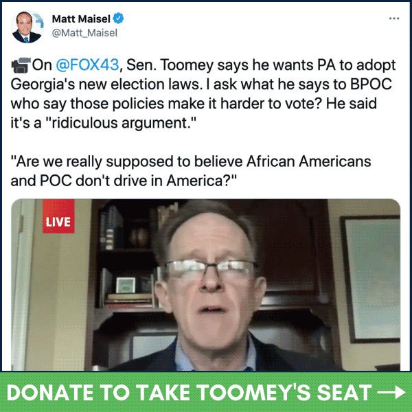 """Jim Crow,voting restrictions georgia,voting rights articles,georgia election law,Senator Pat Toomey on voting rights, PA-Sen: Toomey (R) Wants PA To Adopt GA's Jim Crow Laws Because He """"Thinks Black People Do Drive"""", The Politicus"""