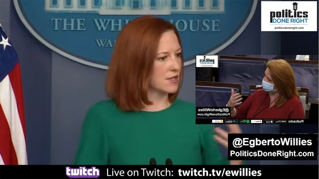 Reporter attempts to blame MLB economic impact to Georgia on Biden. Jen Psaki made her look silly