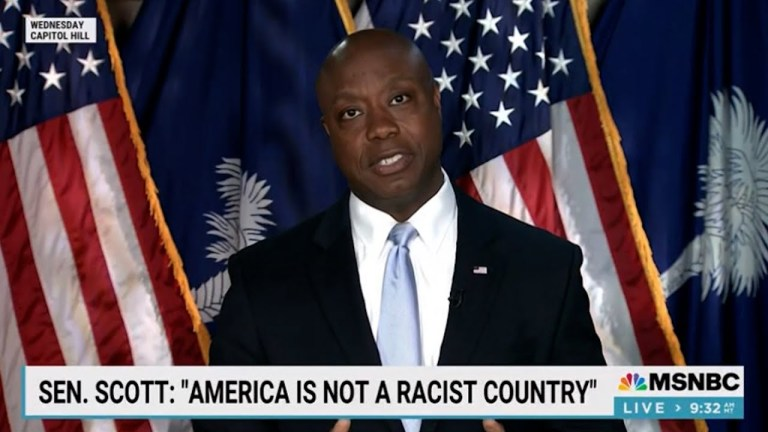 Tiffany Cross: Tim Scott embarrassingly on the wrong side of history. 2 sides to every token. OUCH!