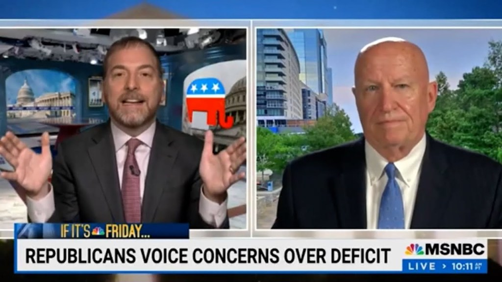 WOW! Chuck Todd slams lying Republican Rep: While GOP controlled all of government Debt Skyrocketed