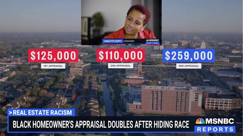 A Black woman doubled the appraised value of her home by having a white man posing as the owner.