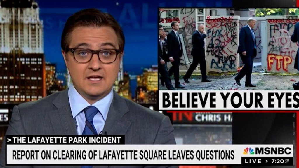 Trump's exoneration in report about violent clearing of Lafayette Park points to needed DOJ purge